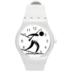 Biathlon Pictogram Round Plastic Sport Watch (m) by abbeyz71
