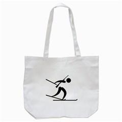Biathlon Pictogram Tote Bag (white) by abbeyz71
