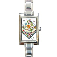 Vector Icon Symbol Sign Design Rectangle Italian Charm Watch by Amaryn4rt