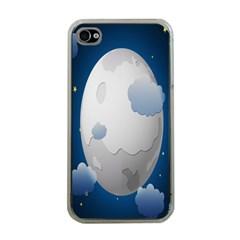 Blue Sky Cloud Star Moon Apple Iphone 4 Case (clear) by Jojostore