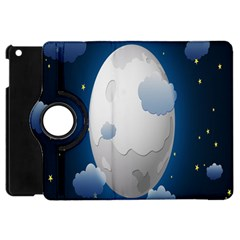 Blue Sky Cloud Star Moon Apple Ipad Mini Flip 360 Case by Jojostore