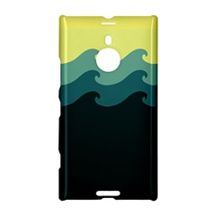 Chevron Wave Water Sea Blue Yellow Nokia Lumia 1520 by Jojostore
