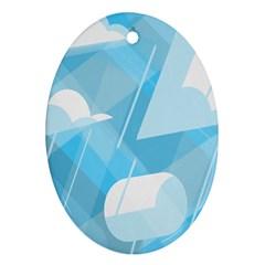 Blue Sky Ornament (oval)
