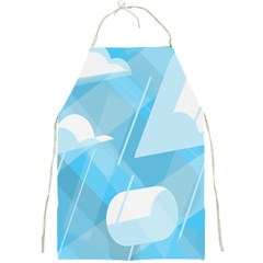 Blue Sky Full Print Aprons by Jojostore