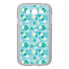 Blue Floral Flower Samsung Galaxy Grand Duos I9082 Case (white) by Jojostore