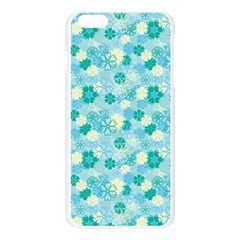 Blue Floral Flower Apple Seamless iPhone 6 Plus/6S Plus Case (Transparent) by Jojostore