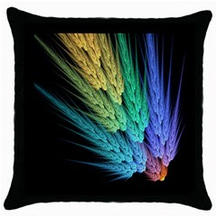 Abstract Fractal Throw Pillow Case (black) by Jojostore