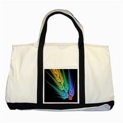 Abstract Fractal Two Tone Tote Bag by Jojostore