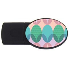 Circle Flower Usb Flash Drive Oval (4 Gb) by Jojostore