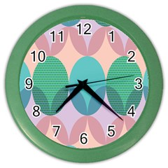 Circle Flower Color Wall Clocks by Jojostore
