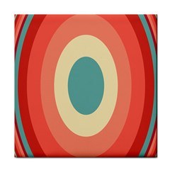Circles Colorful Bull s Eye Tile Coasters by Jojostore