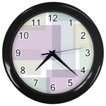 Abstract Background Pattern Design Wall Clocks (Black)