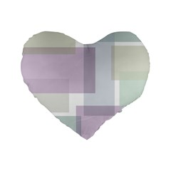 Abstract Background Pattern Design Standard 16  Premium Flano Heart Shape Cushions by Nexatart