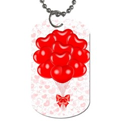 Abstract Background Balloon Dog Tag (One Side) by Nexatart