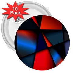 3d And Abstract 3  Buttons (10 Pack)  by Nexatart