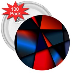 3d And Abstract 3  Buttons (100 pack)  by Nexatart