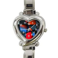 3d And Abstract Heart Italian Charm Watch by Nexatart