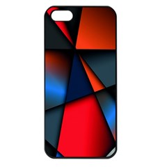 3d And Abstract Apple Iphone 5 Seamless Case (black)