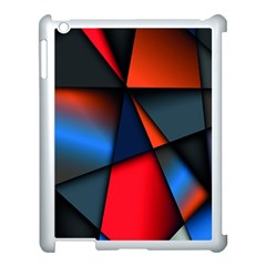 3d And Abstract Apple Ipad 3/4 Case (white) by Nexatart