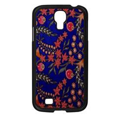 Batik Fabric Samsung Galaxy S4 I9500/ I9505 Case (black) by Jojostore