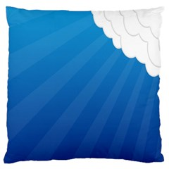Clouds Blue Sky Standard Flano Cushion Case (one Side)