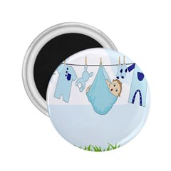 Baby Boy Clothes Line 2 25  Magnets