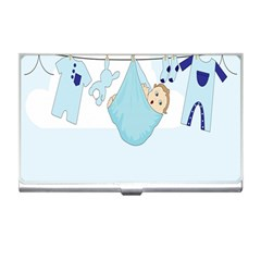 Baby Boy Clothes Line Business Card Holders