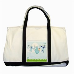 Baby Boy Clothes Line Two Tone Tote Bag