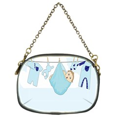 Baby Boy Clothes Line Chain Purses (two Sides)  by Nexatart