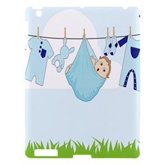 Baby Boy Clothes Line Apple Ipad 3/4 Hardshell Case