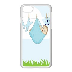 Baby Boy Clothes Line Apple Iphone 7 Seamless Case (white) by Nexatart
