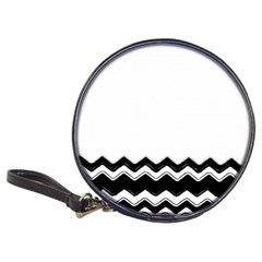 Chevrons Black Pattern Background Classic 20 Cd Wallets