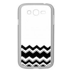 Chevrons Black Pattern Background Samsung Galaxy Grand DUOS I9082 Case (White) by Nexatart