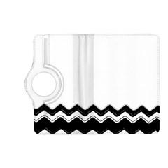 Chevrons Black Pattern Background Kindle Fire Hd (2013) Flip 360 Case by Nexatart