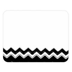 Chevrons Black Pattern Background Double Sided Flano Blanket (large)  by Nexatart