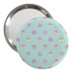 Butterfly Pastel Insect Green 3  Handbag Mirrors by Nexatart