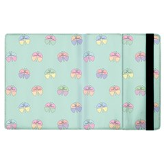 Butterfly Pastel Insect Green Apple Ipad 2 Flip Case