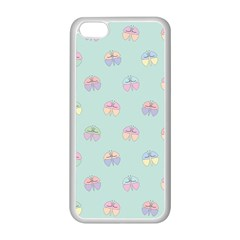 Butterfly Pastel Insect Green Apple Iphone 5c Seamless Case (white)