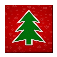 Christmas Tree Tile Coasters