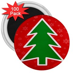 Christmas Tree 3  Magnets (100 Pack)