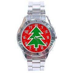 Christmas Tree Stainless Steel Analogue Watch