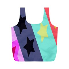 Cool Star Flag Full Print Recycle Bags (m)  by Jojostore