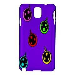 Christmas Baubles Samsung Galaxy Note 3 N9005 Hardshell Case by Nexatart