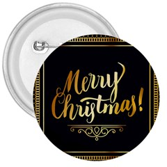 Christmas Gold Black Frame Noble 3  Buttons