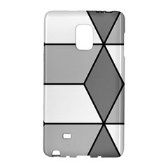 Diamond Cubes Gray Galaxy Note Edge by Jojostore