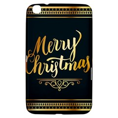 Christmas Gold Black Frame Noble Samsung Galaxy Tab 3 (8 ) T3100 Hardshell Case  by Nexatart