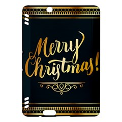 Christmas Gold Black Frame Noble Kindle Fire Hdx Hardshell Case