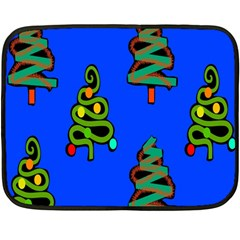 Christmas Trees Fleece Blanket (mini)
