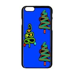 Christmas Trees Apple Iphone 6/6s Black Enamel Case by Nexatart