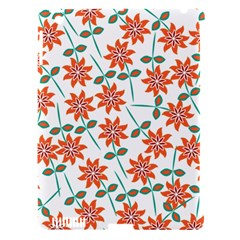 Clipart Floral Seamless Flower Leaf Apple Ipad 3/4 Hardshell Case (compatible With Smart Cover) by Jojostore